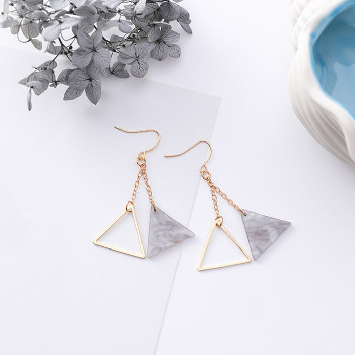 (Pre-Order) Korean Grey Temperament Geometric Earrings 18