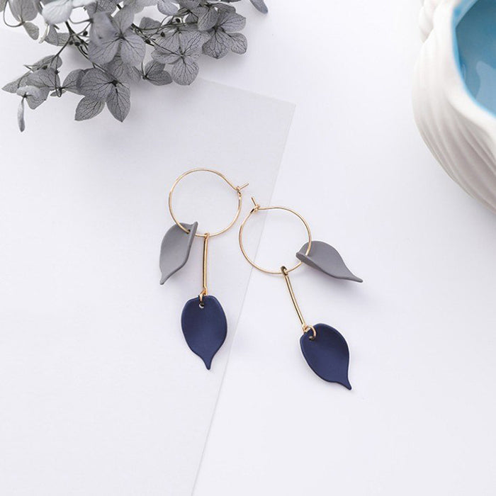 (Pre-Order) Korean Grey Temperament Geometric Earrings 19