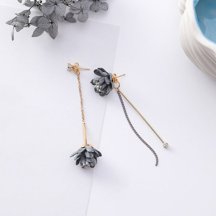 (Pre-Order) Korean Grey Temperament Geometric Earrings 20