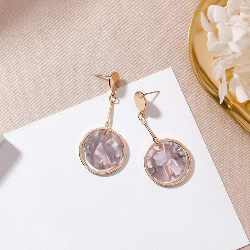 (Pre-Order) Geometric Shell Drop Earrings 20