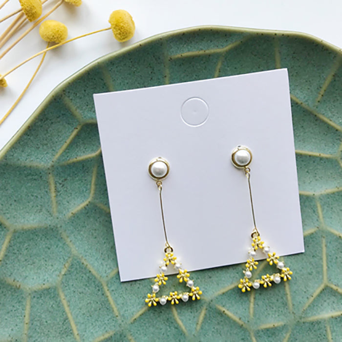 (Pre-Order) Yellow Asymmetrical Earrings 21A7
