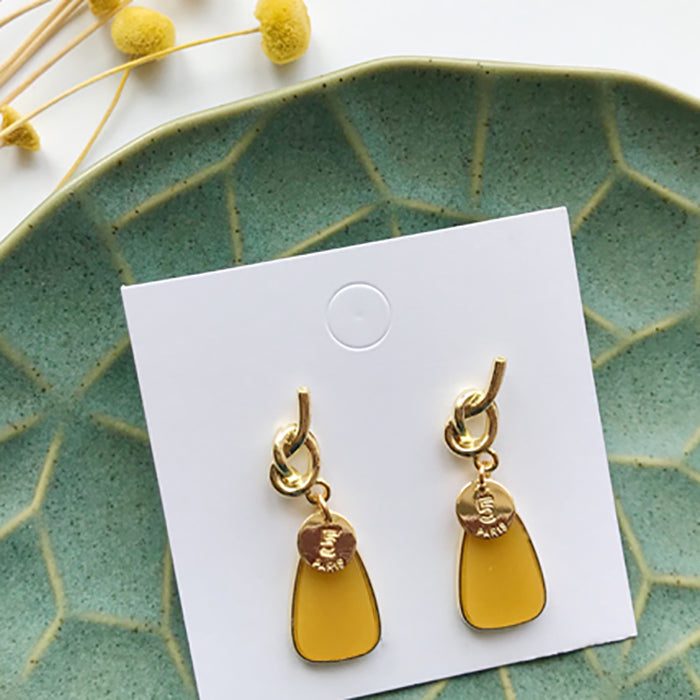 (Pre-Order) Yellow Asymmetrical Earrings 21C4