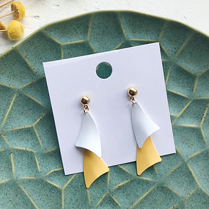 (Pre-Order) Yellow Asymmetrical Earrings 21C8