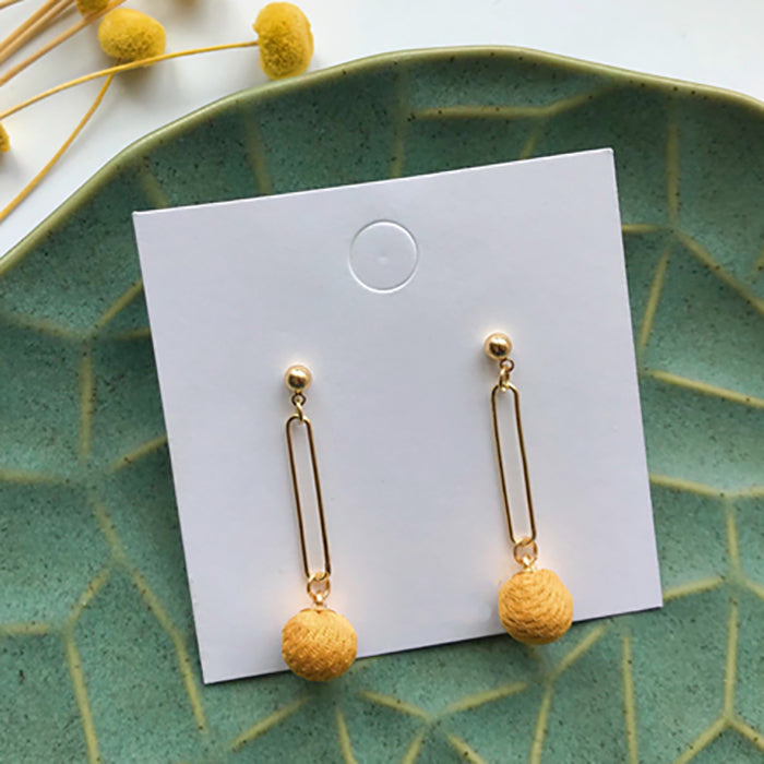 (Pre-Order) Yellow Asymmetrical Earrings 21C9
