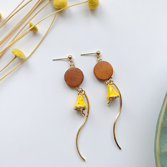 (Pre-Order) Yellow Asymmetrical Earrings 21D1