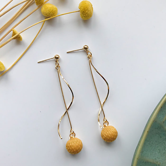 (Pre-Order) Yellow Asymmetrical Earrings 21D9