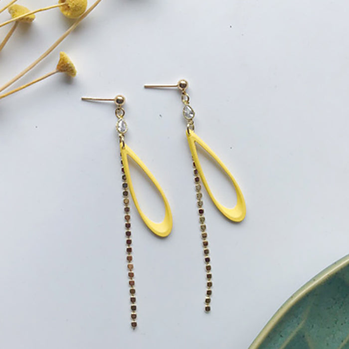 (Pre-Order) Yellow Asymmetrical Earrings 21F9
