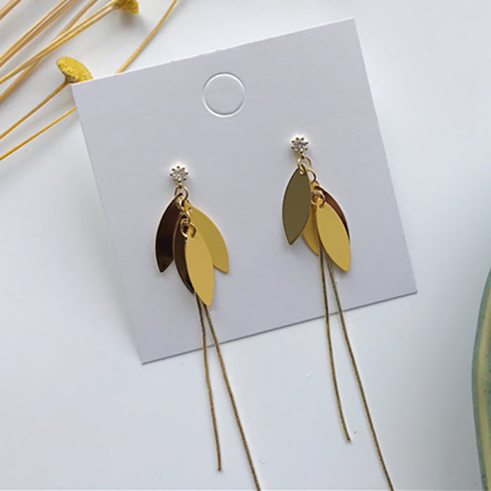 (Pre-Order) Yellow Asymmetrical Earrings 21O