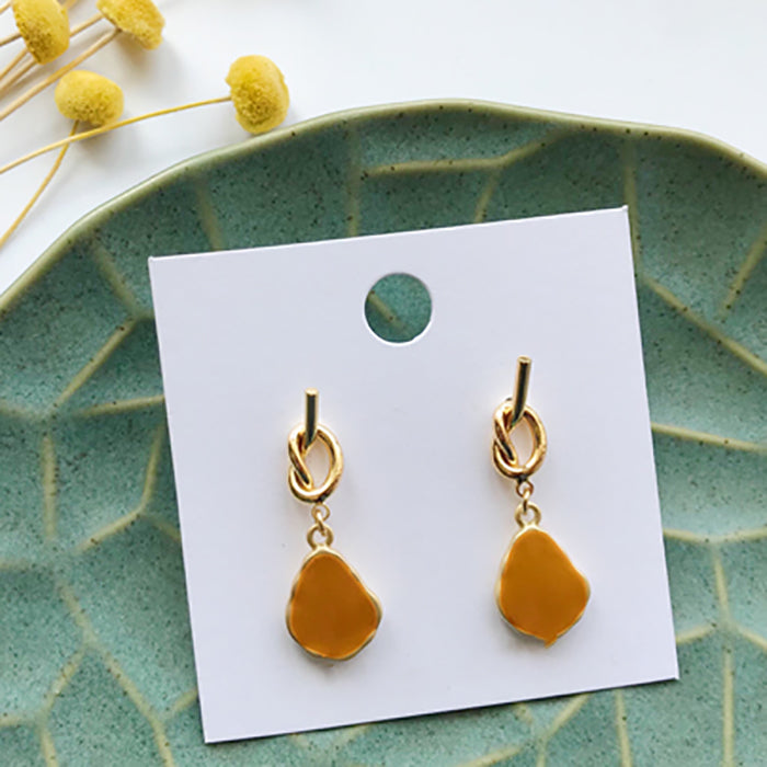 (Pre-Order) Yellow Asymmetrical Earrings 21W