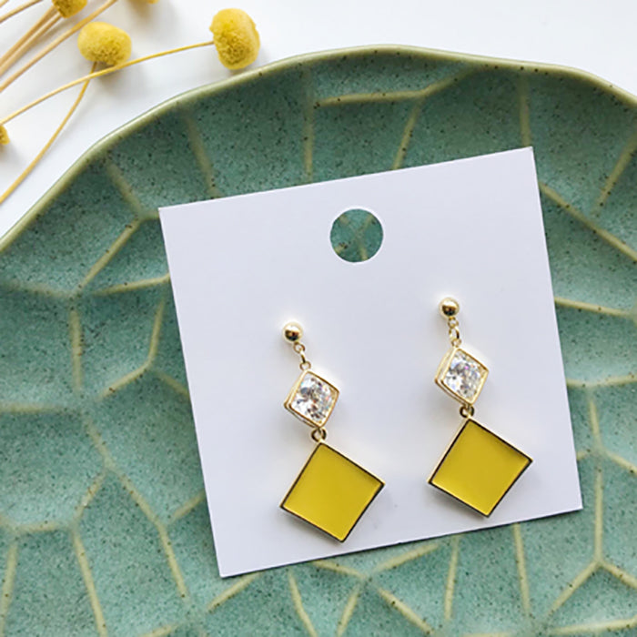 (Pre-Order) Yellow Asymmetrical Earrings 21Y