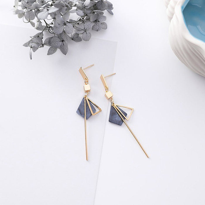(Pre-Order) Korean Grey Temperament Geometric Earrings 30