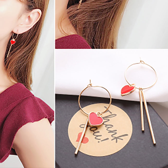 (Pre-Order) Korean Style Asymmetrical Earrings 34