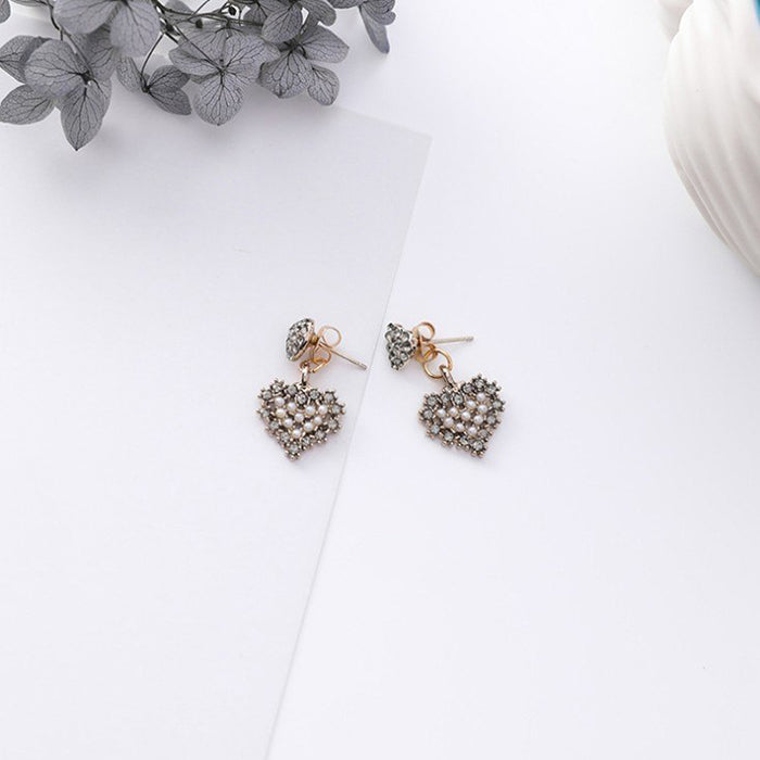 (Pre-Order) Korean Grey Temperament Geometric Earrings 40