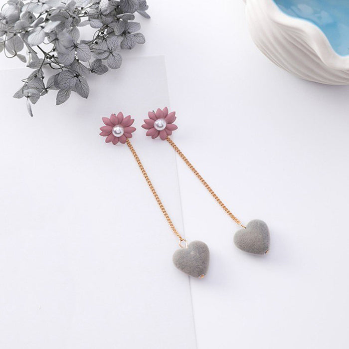 (Pre-Order) Korean Grey Temperament Geometric Earrings 42