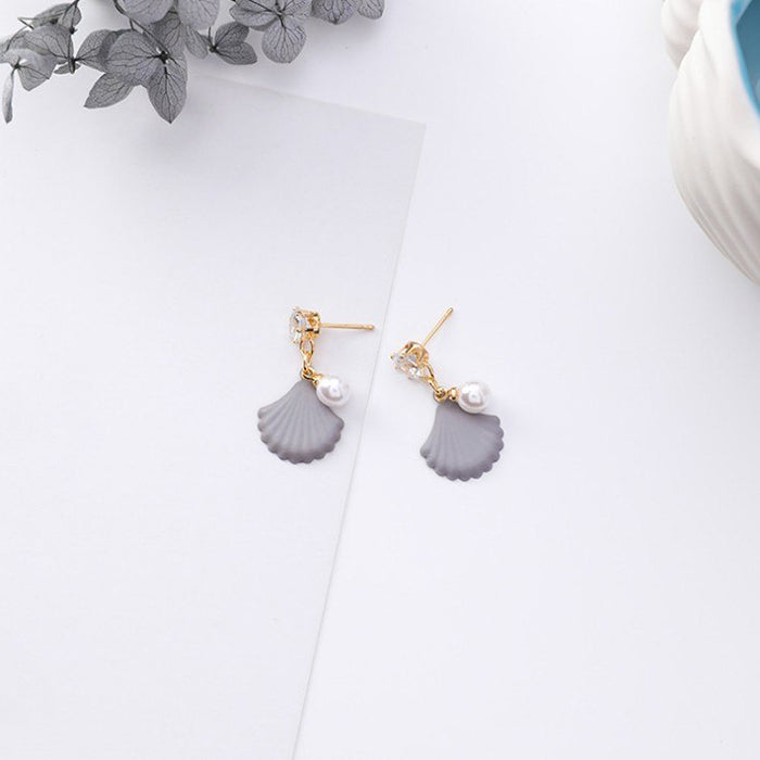 (Pre-Order) Korean Grey Temperament Geometric Earrings 43