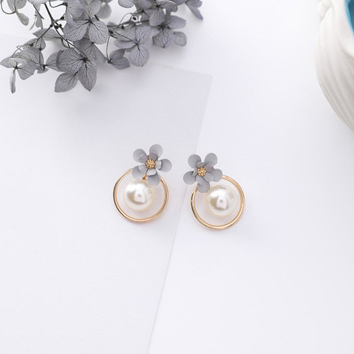 (Pre-Order) Korean Grey Temperament Geometric Earrings 48