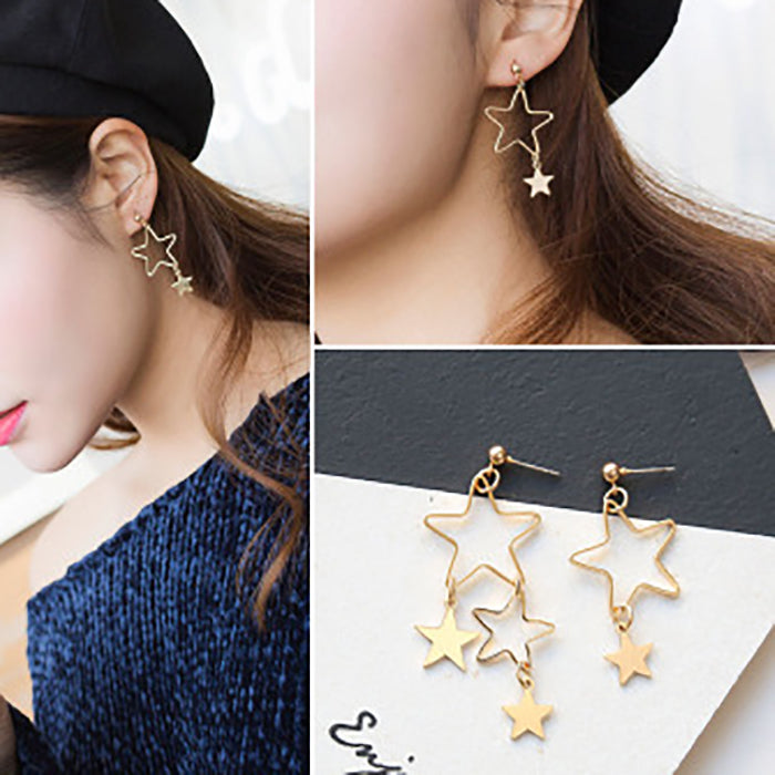 (Pre-Order) Korean Style Asymmetrical Earrings 49