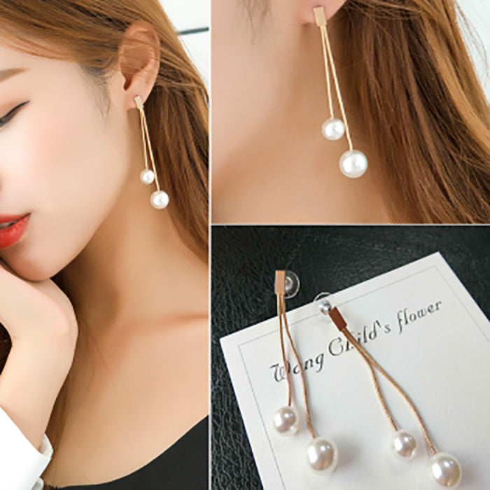(Pre-Order) Korean Style Asymmetrical Earrings 8