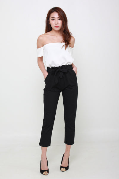 b54ca7258cd (Backorder - Stocks arriving 16 Feb or earlier) Ribbon Cropped Ankle Length  Pants In