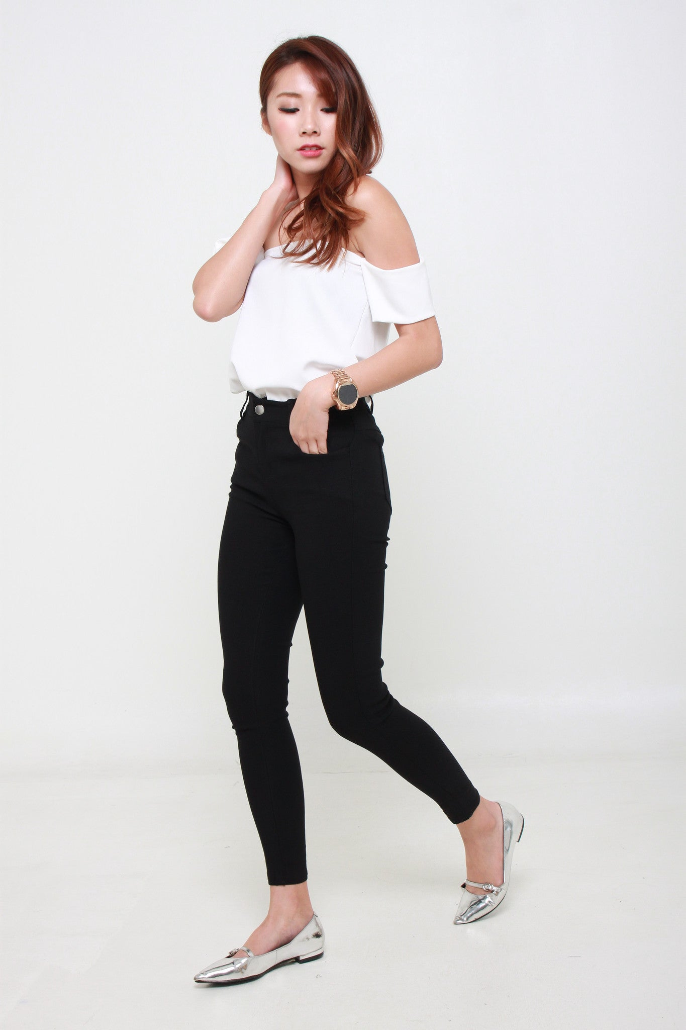 Soft Denim Skinny Legging in Black