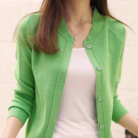 (Pre-Order) Unbutton Knit Cardigan In Green