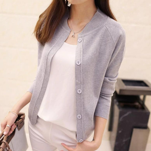 (Pre-Order) Unbutton Knit Cardigan In Grey