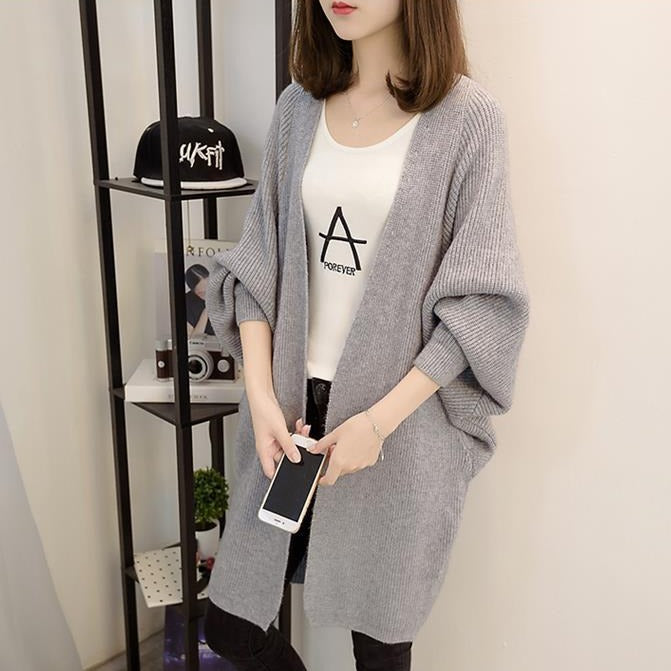 (Pre-Order) Knit Long Cardigan in Grey