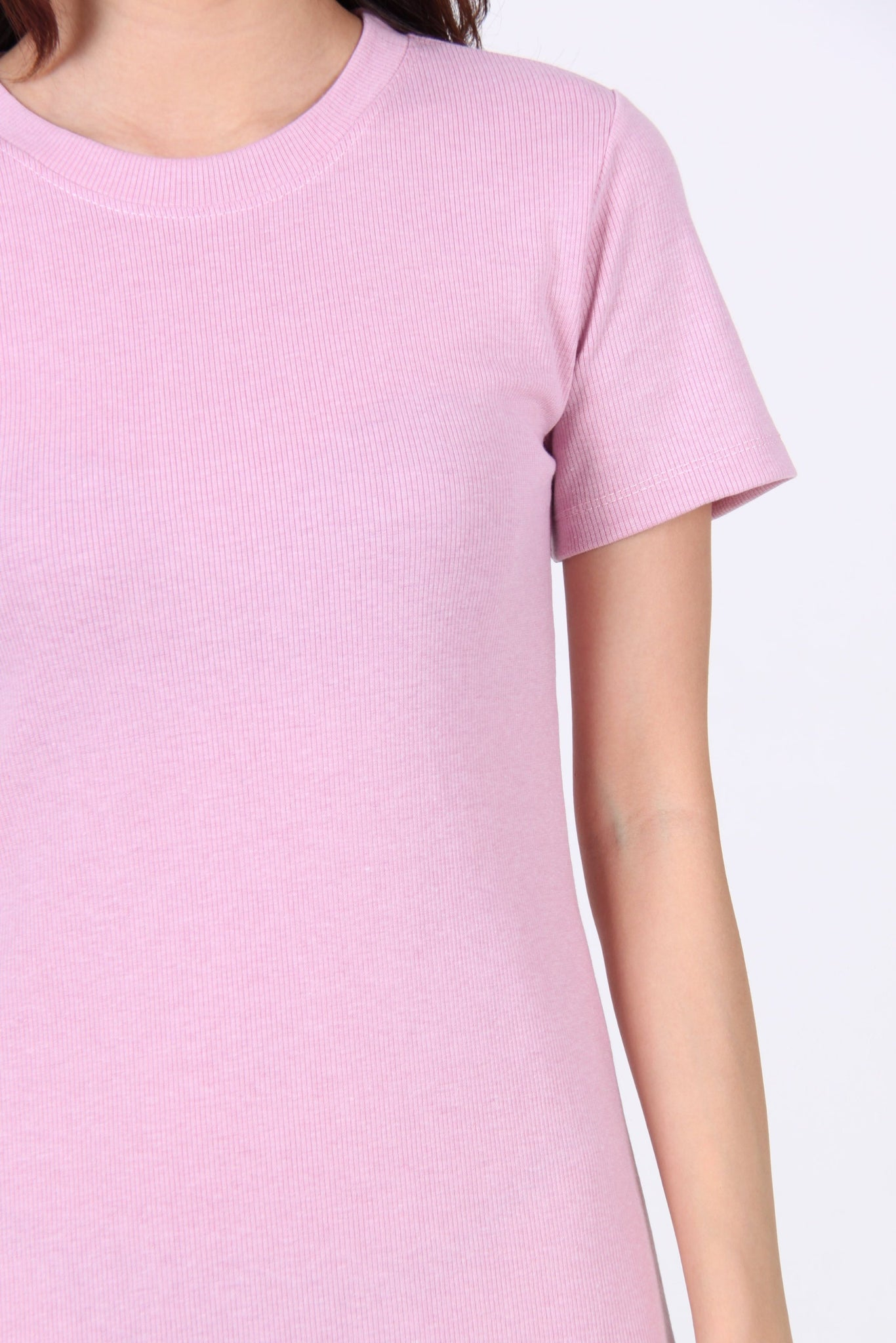 Basic Everyday Comfy Tee Dress in Pink