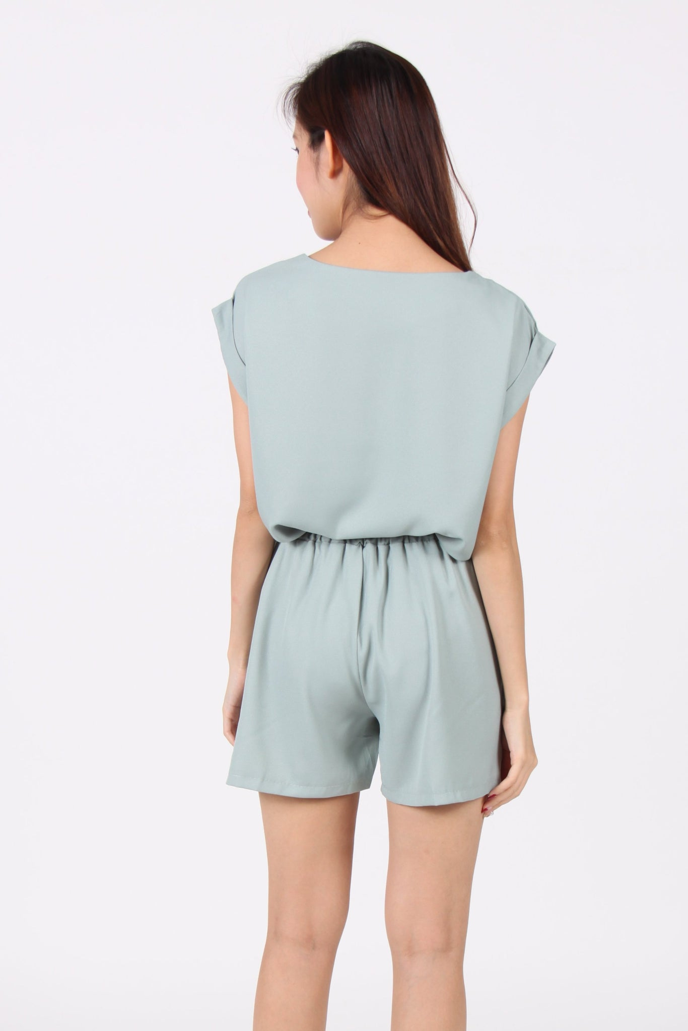 2 Piece Shorts Suit in Green