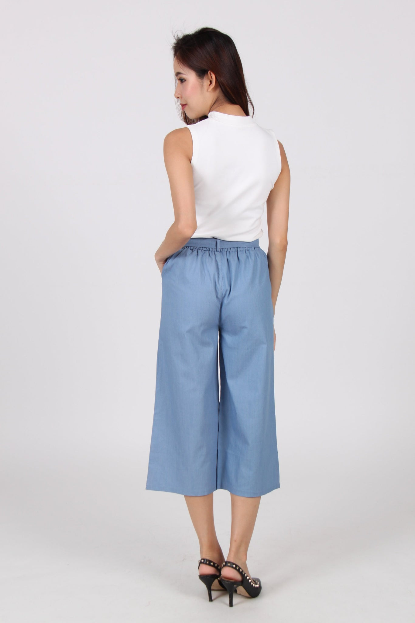 Ribbon Culottes In Blue