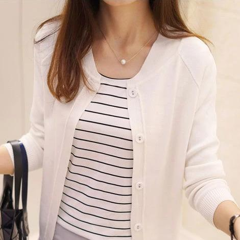 (Pre-Order) Unbutton Knit Cardigan In White