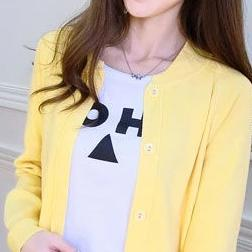 (Pre-Order) Unbutton Knit Cardigan In Yellow