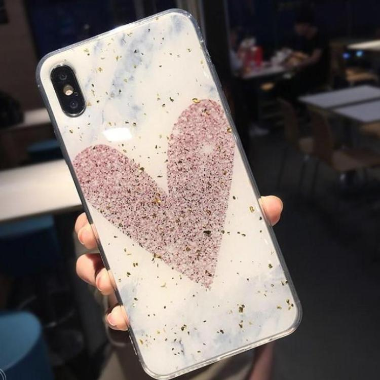 (Pre-Order) Glitter Love Heart Triangle Phone Case for iPhone