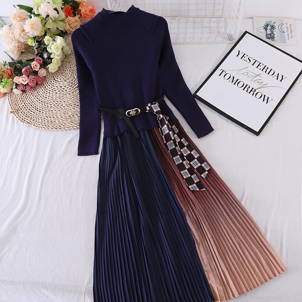 (Pre-Order) Floral Bell Sleeve High Waist Wide Leg Tube Romper in Navy Blue