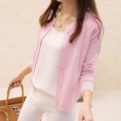 (Pre-Order) Unbutton Knit Cardigan In Pink