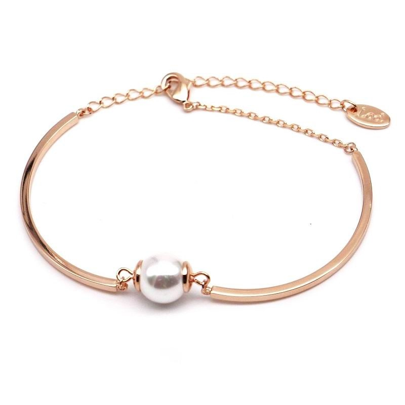 (Pre-Order) Simple Pearl Bracelet in Rose Gold/Silver