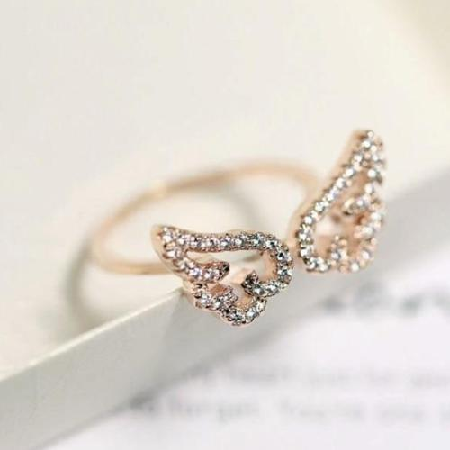 (Pre-Order) Angel Wings Adjustable Finger Ring in Rose Gold/Silver/Gold