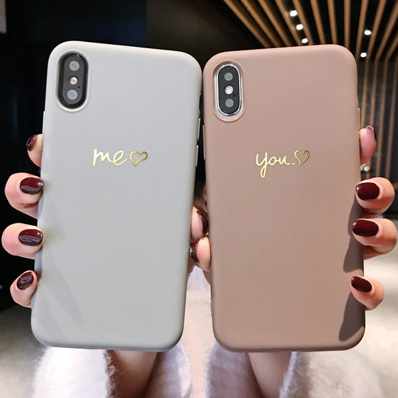 (Pre-Order) Couples Soft TPU Phone Case For iPhone
