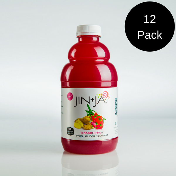 12-Pack 32 oz. Bottles of Dragon Fruit Jin+Ja (96 servings)
