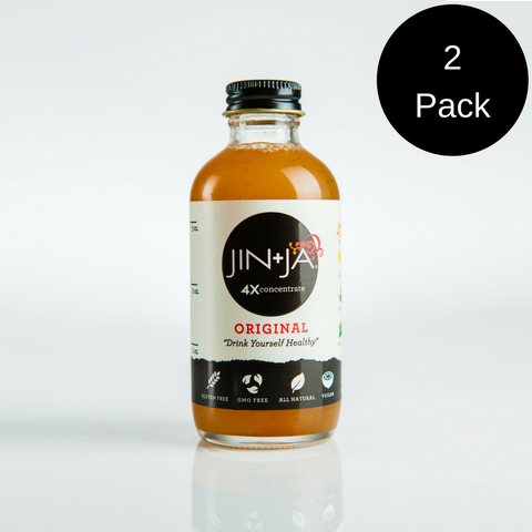 2-Pack 4 oz Bottles of 4X Jin+Ja Concentrate (8 servings)