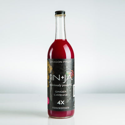 750ml Bottles of 4X Dragon Fruit Jin+Ja Concentrate (25 servings)