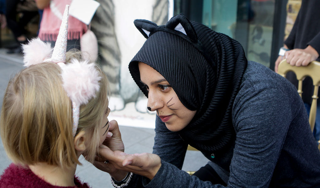 Face painting for the Tower Bridge Cat book launch
