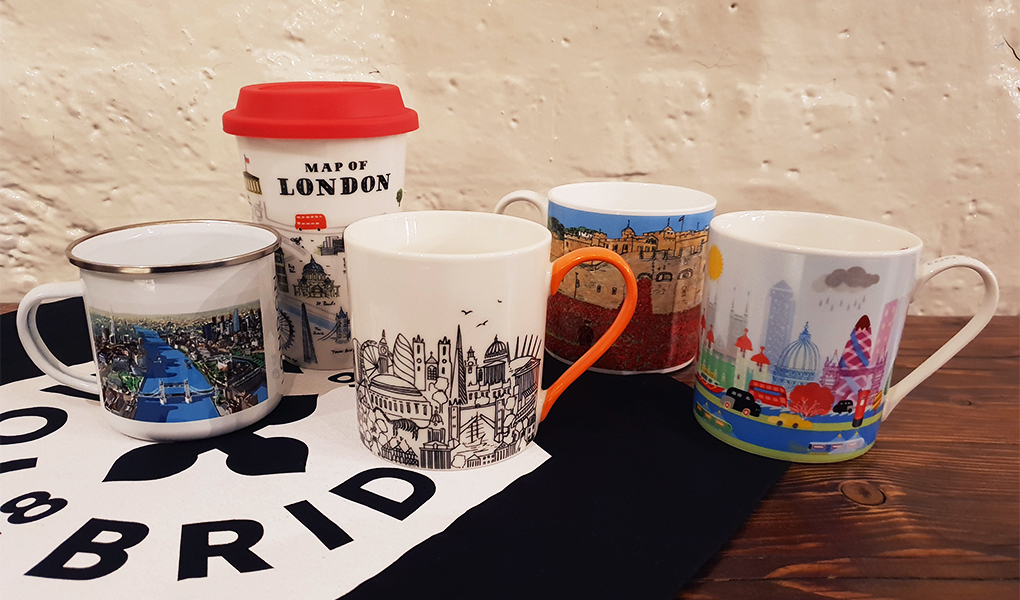 London and Tower Bridge inspired mugs