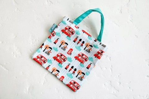 Little Red Bus Tiny Tote