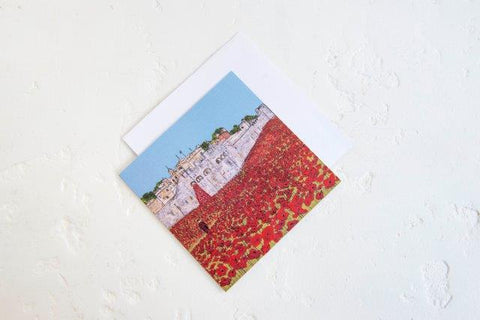 Emmeline Simpson Poppies Greetings Card