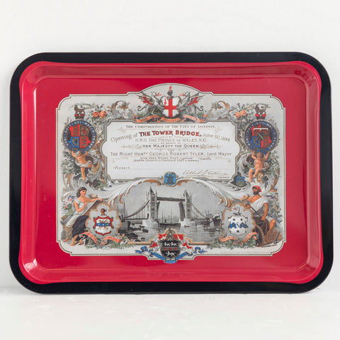 Tower Bridge Invitation Tin Tray 01