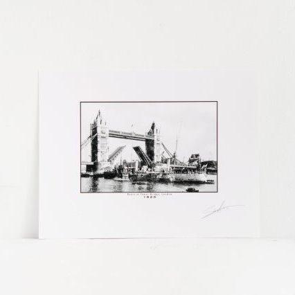 Boats at Tower Bridge 1920 Photo Print