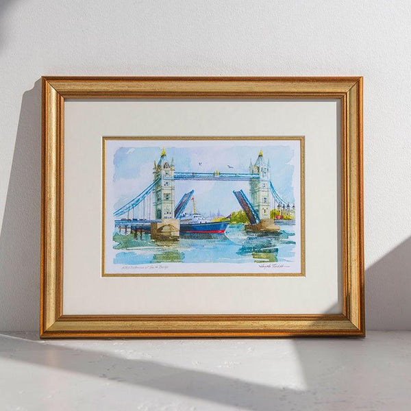 Tower Bridge & Royal Britannia Framed Print 01