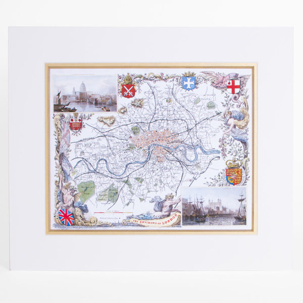 The Environs Of London - Classic Maps Print 1