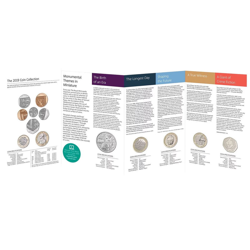 2019 United Kingdom Brilliant Uncirculated Annual Coin Set